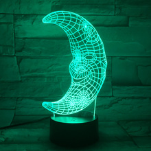 Moon Night Light Emergency Lights on the Battery 3D Led Table Lamp Novel Nightlight Lampe Enfant Child Luminaria Touch Lampada