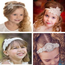 Free Shipping Girls Headband with beaded Crystal Headband Kids Rhinestone Headband Toddlers' Wedding Accessories