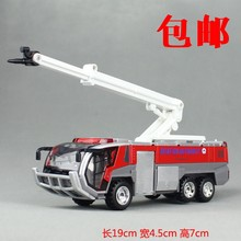2017 Alloy toy airport fire truck model ambulance rescue train climbing ladders engineering car acousto-optic carros de metal(China)