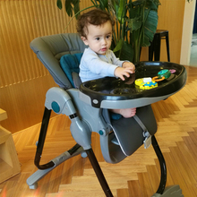 7 height positions and 3 recline levels baby high chair folding multifunctional portable baby chair seat dinner table highchair