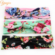 10pcs/lot 2017 Trendy Rabbit Ear Floral Cotton Infantile Bunny Headband Hot-sale Elastic Kids Girl DIY Hair Accessories Photo Pr(China)