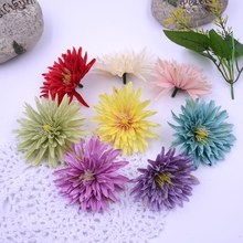10pcs/lot Silk 7.5cm Gerbera Artificial Flower For Wedding Home Daisy Decoration Mariage Flores Clothing Hats Accessories Flower(China)