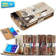 For Sony Xperia C3 T2 Ultra T3 Universal Printed PU Wallet Flip Flora Leather Case Cell Phone Cover Cases Large Size(China)
