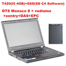 BEST T420(I5 4GB)+SSD(240GB) DTS Monaco 8 + vediamo +xentry+DAS+EPC Complete super engineers WITH win7 64WIN System(China)