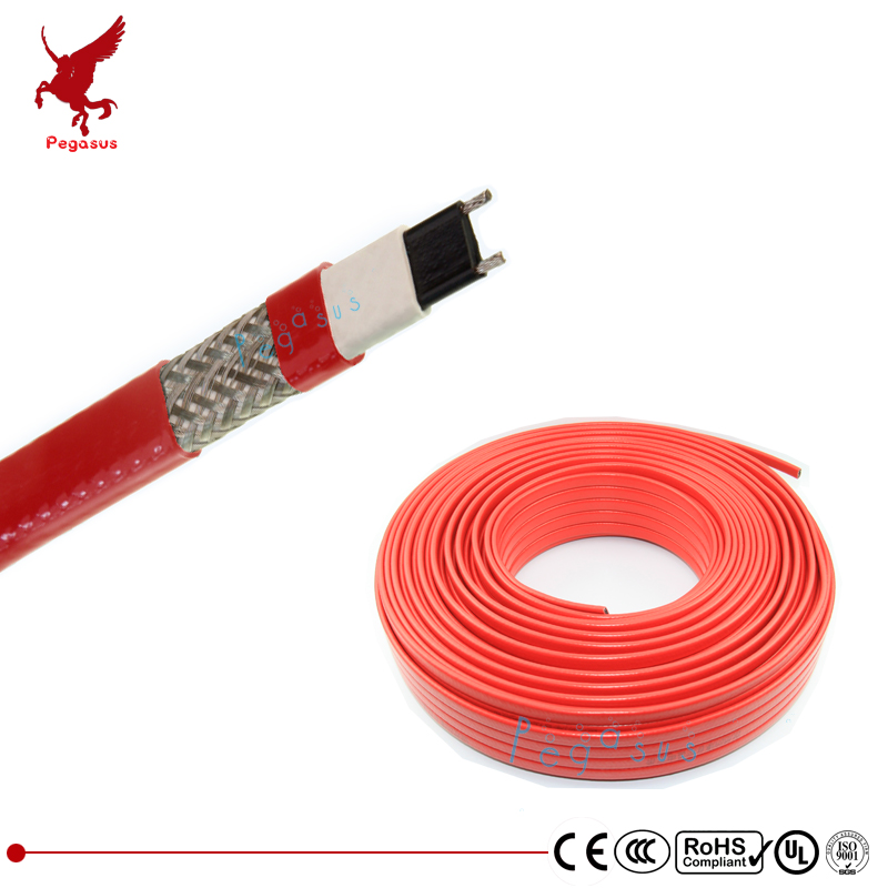 15m 200V-240V type heating tape 14mm width self regulating temperature Water pipe protection Roof deicing heating cable<br>