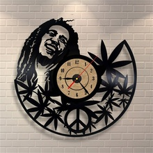 12Inch Quartz Wall Clock Antique Style Large Decorative Wall Clocks Vinyl Record Clock Living Room Art Watch(China)