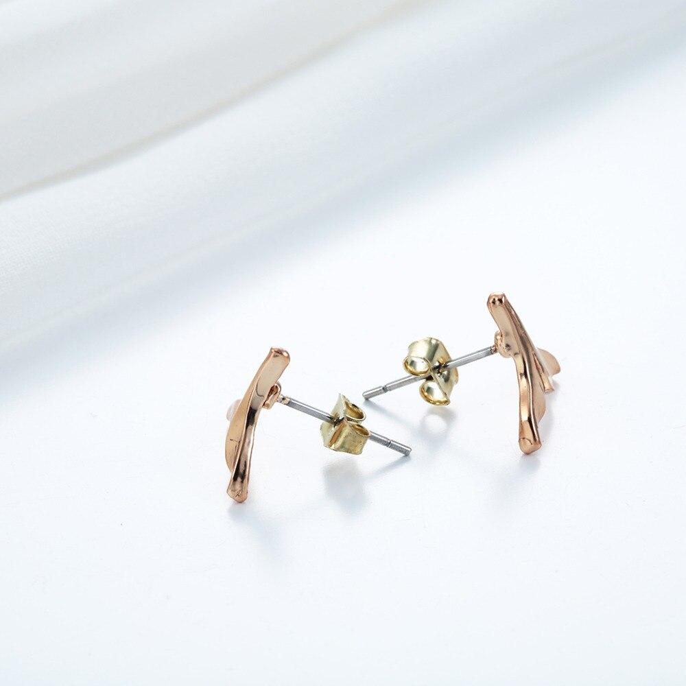 Cute Whale Tail Stud Earrings