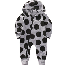 UK Newborn Infant Baby Boys Girls Romper Long Sleeve Warm Clothes Hooded Jumpsuit Zipper Clothes Outfit Bay Boy Girl