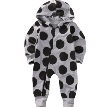UK Newborn Infant Baby Boys Girls Romper Long Sleeve Warm Clothes Hooded Jumpsuit Zipper Clothes Outfit Bay Boy Girl(China)