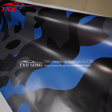 New Car Styling Big texture blue black grey camouflage car wrap film with air bubble auto Camouflage vinyl stickers