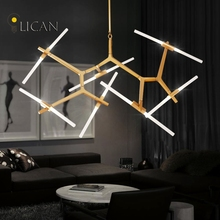 Creative Branch Metal+Acrylic Chandeliers Lights For Living room Bedroom Candelabros Modern Chandelier for high ceilings