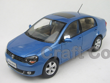 Blue 1:18 Volkswagen VW New POLO Sedan Saloon Alloy Model Diecast Show Car Classic toys Scale Models
