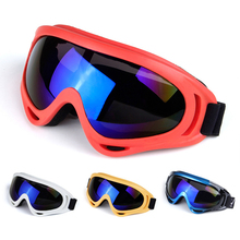 In stock Winter Motorcycle Dirt Bike Goggles Ski Sled Skate Windproof Glasses Mirror Colored Optional Clear Lens Free Shipping