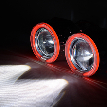 LHD 35W 2.8 Inch HQG HID Bixenon Headlight Projector Lens Most Auto Car Angle Eye Halo H7 H4 Use H1 Xenon Bulb Without Ballast