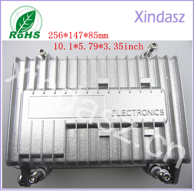 256*147*85mm 10.1*5.79*3.35inch Waterproof die-cast aluminum enclosure electrical metal equipment box<br>