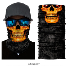 Magic 3D Seamless Headband Tube Head Neck Scarf Face Mask Skeleton Skull Motorcycle Cycling Fishing Halloween Bandana Balaclava