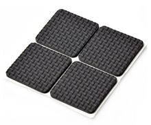 4PCs/Lot Tables and chairs mats and Ottomans black corner of the desk chair cushion anti abrasion floor mat door sticker Z425