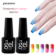 Paraness 8ml Temperature Color Change Nail Gel Polish Lucky 29 Color UV LED Soak Off Thermo Mood Gel Varnish Manicure(China)