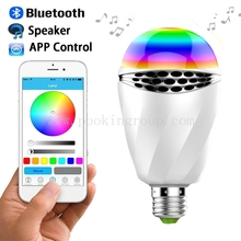 2017 NEW Exclusive 6W RGB LED Bulb Bluetooth Smart Lighting Lamp Colorful Dimmable Speaker Lights Bulb With Remote Control