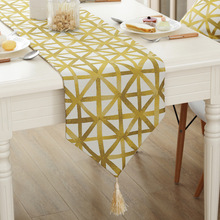 Geometry Yellow Table Runner Modern Tea Table Flag Dinner Tablecloth Bed Home Furnishing Decor Simple TV Cover Cloth