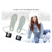 1Pair 3600MAH Electric Heating Insoles With Smart Battery Rechargeable Shoes Pad Keep Feet Boot Warm For Winter Ski Outdoor