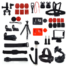 GoPro Accessories Hero Kit Suction Cup Head Strap Standard Frame Helmet Bicycle Handlebar Clip Tripod Silicone Lens Cap Combo
