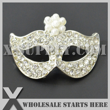 DHL Free Shipping Mask Pearl Rhinestone Embellishments Button with Shank for Wedding Invitation,Brooch Bouquet,Flower Center