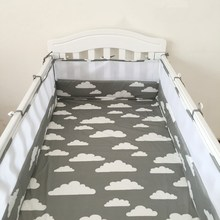 (1pcs bumper only) crib bumper infant bed,baby bed bumper fashion clauds/star/tree crown breathable Mesh baby crib protection(China)