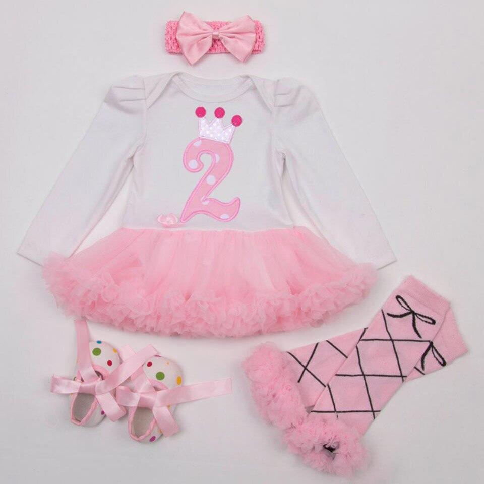Marlegard/® Baby Girls 4PCs Birthday Tutu Dress Headband Shoes Leggings