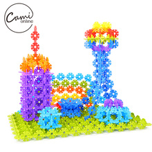 300pcs Snowflake Building Puzzle Toy DIY Assembling Classic Early Educational Learning Toys Baby Intelligence Development Tool(China)