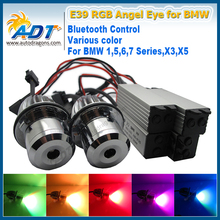 20W Canbus LED Cr RGB Car Angel Eye by Blue tooth wireless Auto Led for BMW E87/E39 M5/E60 M5/E61/E63/E64/E65/E66/E83 X3 X5(China)