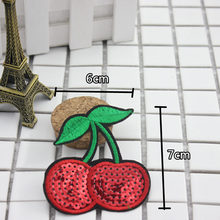 Hoomall 1 PC patch embroidered clothes iron cherry fruit applique DIY clothing accessories patch clothes fabric badge