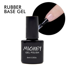 MICHEY UV Gel Polish Thick Rubber Base Gel Long-lasting Nail Gel Lacquer 1pcs Free Shipping