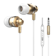In Ear Wire Metal Earphone Langsdom M300 Stereo Music Hands-free Call Earphones Headset With Mic For iphone Xiaomi Samsung