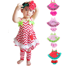 Buy 2017 Summer Style Baby Swing Top Baby Girls Clothing Set Infant Flower Ruffle Outfits Bloomer Set Newborn Girl Clothes Sets for $8.38 in AliExpress store