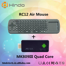 MK809III rockchip RK3188 mini pc quad core android 4.4 TV stick with free air mouse keyboard RC12
