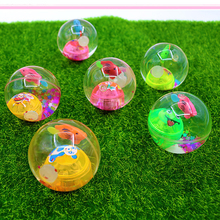 6.5cm Colorful flash Crystal Magic Stretch Ball/luminous toys/crystal ball/pet light toys/jump ball/baby toys for children/toy