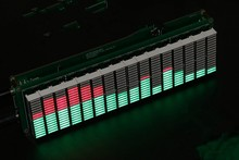 16 level LED Audio Spectrum indicator Board Speed Adjustable With AGC Mode Green Color(China)