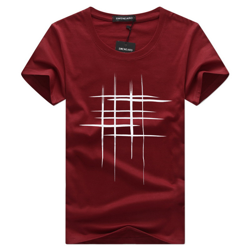 Simple creative design line cross Print cotton T Shirts Men's New Arrival Summer Style Short Sleeve Men t-shirt(China)