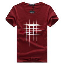 Simple creative design 선 cross Print 면 T Shirts Men's New Arrival Summer Style Short Sleeve Men t-shirt(China)
