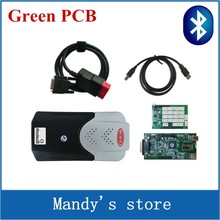Green PCB New vci vd tcs cdp with Bluetooth VD TCS CDP pro CARs TRUCKs diagnostic tools new software as mvd multidiag pro+