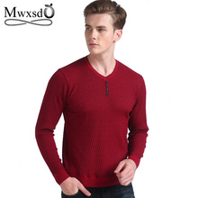 Mwxsd Spring autumn Brand men Casual sweater mens Cashmere Wool Pullover christmas sweater men Dress Knitted Sweater Clothing(China)