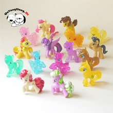 10pcs/20pcs/30pcs/lot 5cm Little Horse Loose Toys For Children Gift Very Cute Cartoon Action Figures Vinyl Doll Different Random(China)