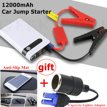 Portable Mini Car Jump Starter 12000mAh Car Jumper Booster Power Bank Emergency Car Battery Charger Starting Diesel Buster LED
