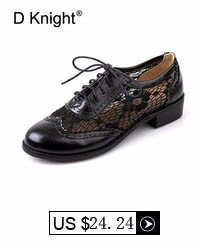 Fashion Round Toe Lace Oxford Shoes For Women Vintage Carved Lace Up Flat Women Oxfords Big Size 34-43 Brogue Oxford Shoes Woman
