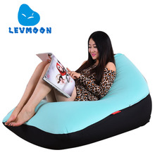 LEVMOON Beanbag Sofa Chair Adult Seat Zac Bean Bag Bed Cover Without Filling Indoor Beanbags(China)