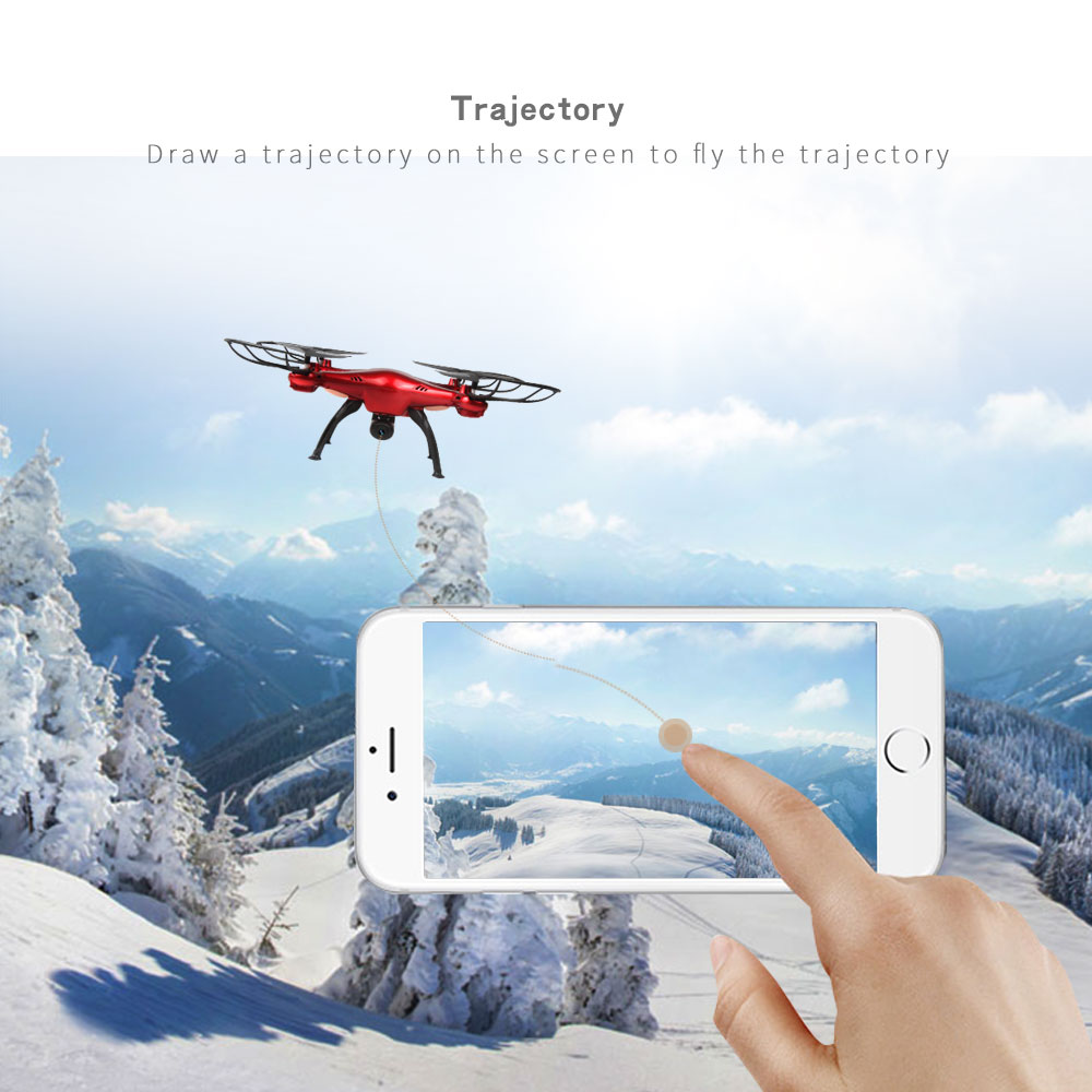 LIDIRC L15 720P HD Camera 2.4G 4CH 6-Axis WIFI FPV RC Drone Helicopter Quadcopter Toys Red/White