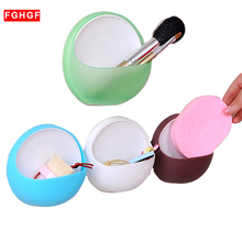 HOT Soap Storage Box Dish Case Makeup Organizer Water Drain Sponge Holder For Kitchen Double Sucker Bathroom Kitchen Organizer(China)