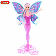 Oenux New Design Fashion Swimming Mermaid Dolls Toys Magic Moxie Mermaid Doll Princess Ariel Dolls Bonecas Toy For Girl's Gifts(China)