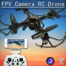 FPV Cam Drone Quadcopter Control by WIFI Iphone Android Helicopter With optional camera X8G X8W X5C X5SW F181 FSWB(China)